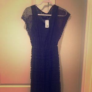 Basic black lace dress
